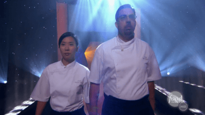 Yang and Chirchi prepared for Capitol Hill with this 2010 Iron Chef America appearance