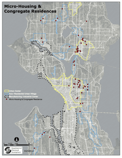 The City of Seattle's microhousing map freaked the slow-growth crowd out