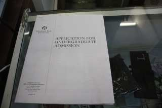 "In an attempt to comply with ""on-premise"" requirements, management offered this application form on the store's counter"