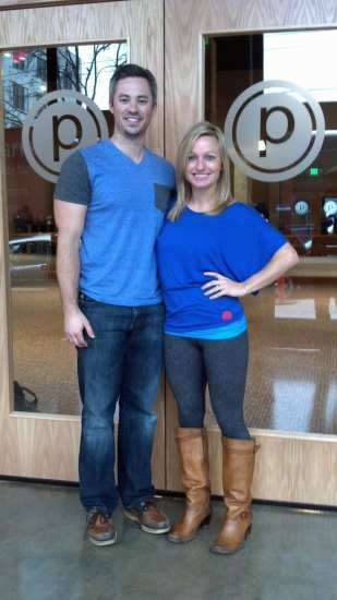 Brandon and Sami Sweeney at their newest Pure Barre studio, opening on Saturday, January 4th on Capitol Hill