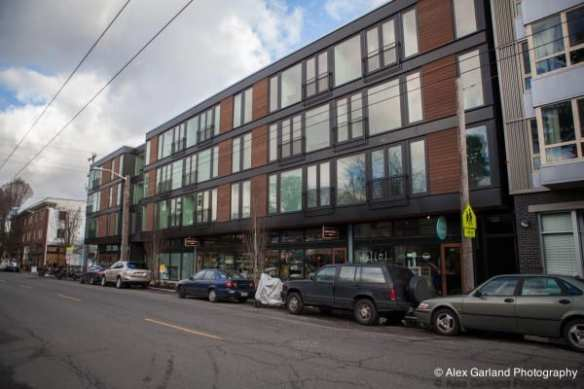 19th and Mercer rises four stories where once stood the Holiday Craft Store and its prodigious parking lot (Image: CHS)