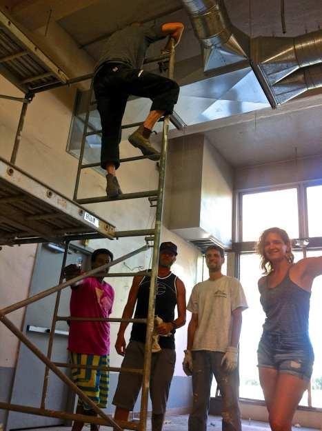 The Big Fun gang hard at work at the end of last sumer (Image: CHS)