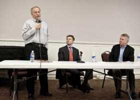 Frank Chopp, Pedersen and Murray at a 2011 town hall (Image: CHS)