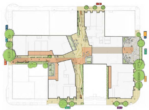 A 'complex' map of the future Pike Motoworks project's thousands of square-feet of retail