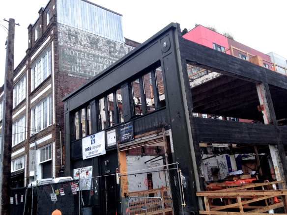 The Chophouse Row building is slated to be complete and ready for shops and offices to open in October (Image: CHS)