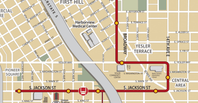 The streetcar opens later this year -- and will run only a few blocks away