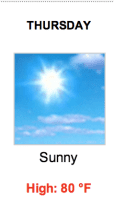 The National Weather Service says we're in for a beautiful day