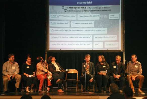 Tuesday's panel (Image: Capitol Hill Housing)