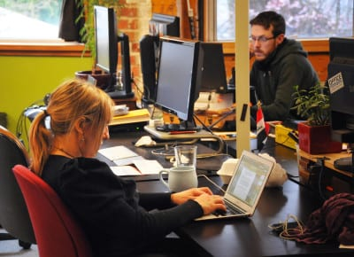 A Capitol Hill coworking space at Office Nomads (Image:  Trina Gadsden/Office Nomads via Flickr)
