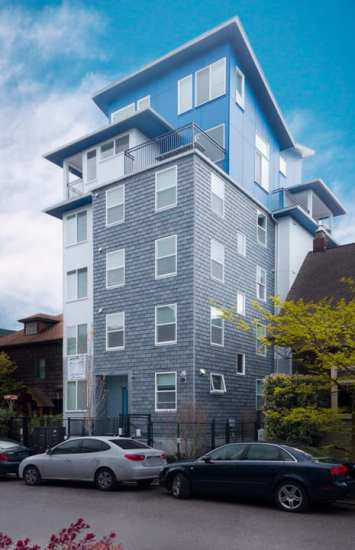 The Cortena micro-style apartments stand at 227 Boylston Ave E (Image: Matthew Gallant Photography)