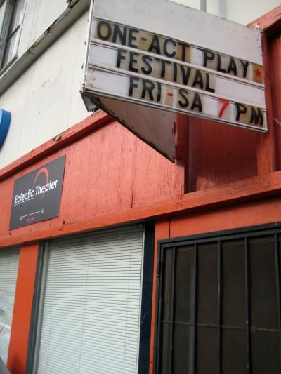 One-Act Play Festival, Eclectic Theater, 10th Ave, 2014 -- JO