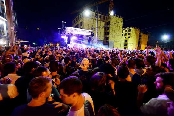 The Capitol Hill Block Party's Vera stage had a new background in 2014