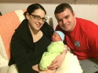 Little Lucas Douglas was Baby New Year to start 2014 at the Group Health Family Beginnings Birthing Center at 15th and Thomas (Image: Courtesy of Group Health)