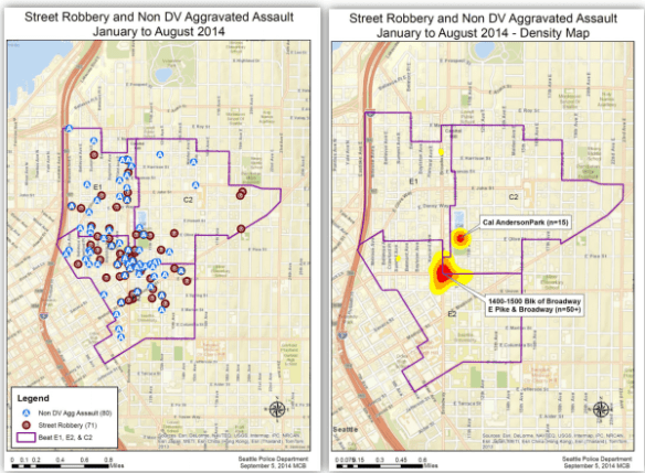 and maps showing that, yup, Capitol Hill has some street crime problems