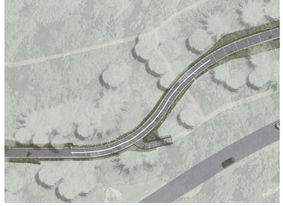Planners expect a center line to help split traffic on the trail's curves