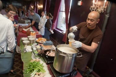 Eric Banh doled out the pho at a past Omnivorous (Image: CHH)