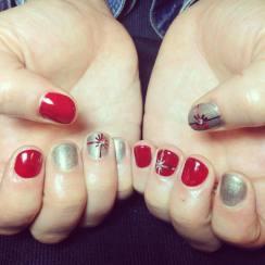 Holiday nails from Bang