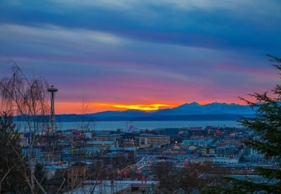 And this is the only slightly embellished view from the #1 Capitol Hill condo sale of 2014 (Image via Estately)
