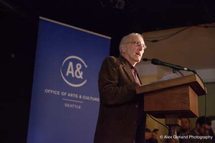 Council member Licata inside Hugo House for the launch of the Capitol Hill Arts District in 2014 (Image: CHS)
