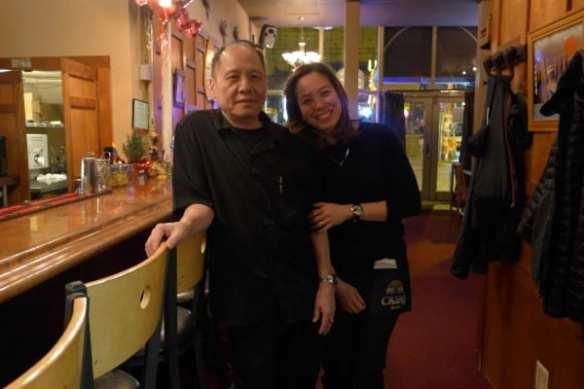 Owner Pai Boon and AJ at Ayutthaya (Image: Grace Qian)
