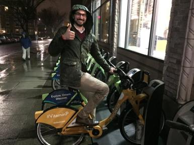 """""""I just got some #vitaminp in tonight. Got a tad wet but when I saw the yellow bike it was all better! """" -- @seatransitblog"""