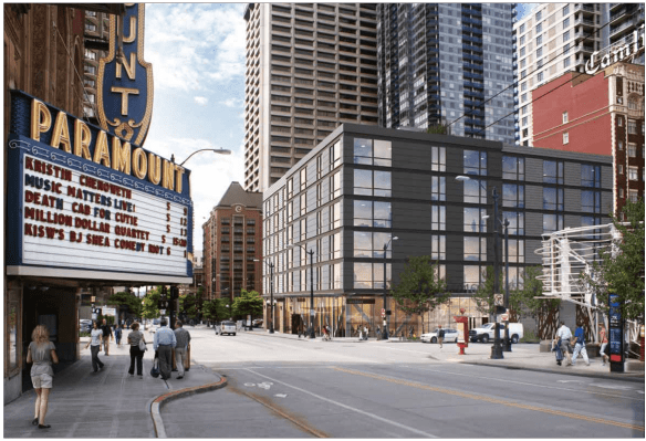 Tom Douglas sees his future across from the Paramount (Image: Runberg Architecture)