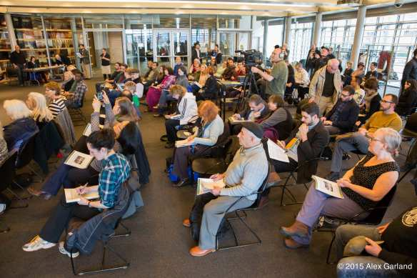 Monday's release of the Community Housing Caucus report. These folks will have to speak up -- even more -- to shape Seattle's affordability plan (Image: Alex Garland)