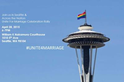 Unite for Marriage -- Seattle @ Outside of William Kenzo Nakamura U.S. Courthouse