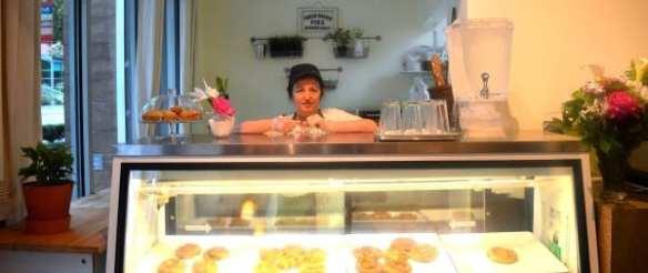 Natalie Gjekmarkaj behind the counter (Image: Byrek and Baguette)