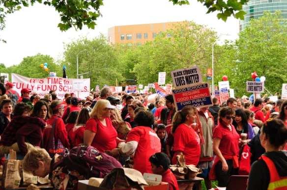 Tuesday's rally (Image: Dennis Saxman)