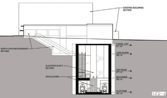 A cutaway view from the north of Capitol Hill Station's main entrance at Broadway and John (Image: Sound Transit)