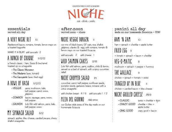 Niche Gluten Free Cafe Bakery