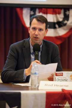 Hearne at a May candidates forum (Image: CHS)