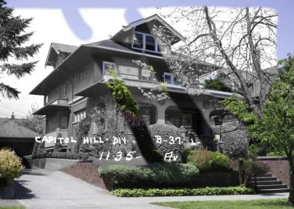 Dore Home in 1937 (Washington State Archives) and in 2015 (Rob Ketcherside)