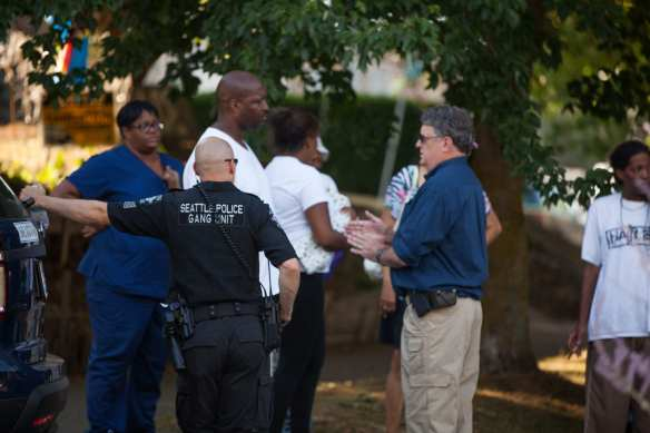 The SPD gang unit was on the scene of the July 2nd shooting death of Torrence Phillips (Image: CHS)