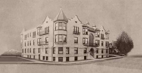 Drawing of The Roycroft circa 1906