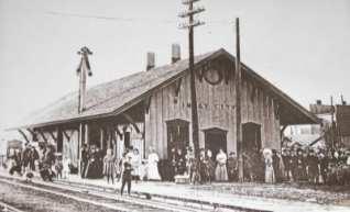 Imlay City train depot, late 19th century.  Courtesy antiquestoresinmichigan.com