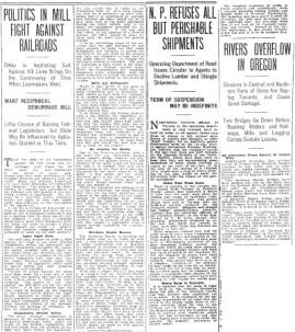 Montage of news articles from 1906 and 1907.  Courtesy Seattle Times. (Click to read)