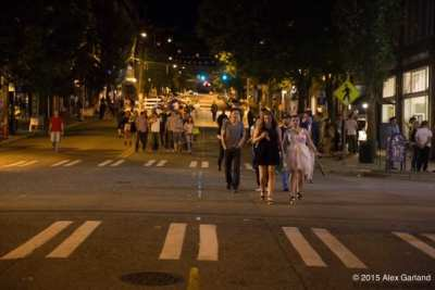 The city is assessing the recent Pike/Pine pedestrian zone trial run by the Capitol Hill EcoDistrict (Image: CHS)