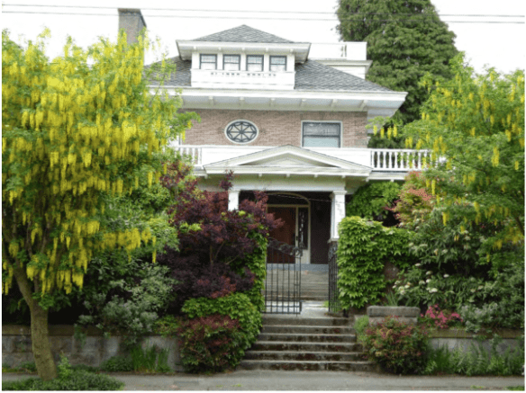 10th Ave E's J.W. Bullock house (Image via Seattle Landmarks Board nomination)