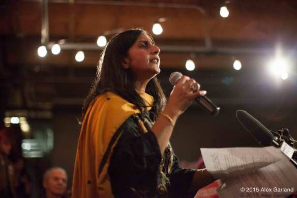 "Sawant on Election Night: """" (Image: Alex Garland for CHS)"