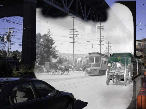 Old photo from King County Metro Collection at Washington State Archives. New by Rob Ketcherside