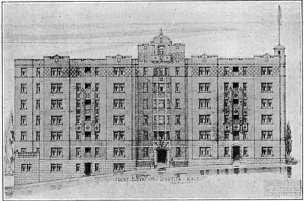 Drawing of the Biltmore. Image: University of Washington.