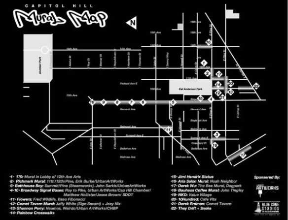 Capitol Hill Mural Map