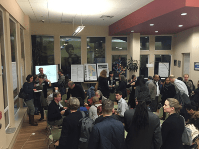 Community members packed the Seattle Central Wood Technology Center Thursday night (Image: Ross Armstrong)
