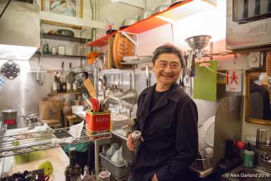 Cho hanging out in his tiny but busy kitchen (Images: CHS)