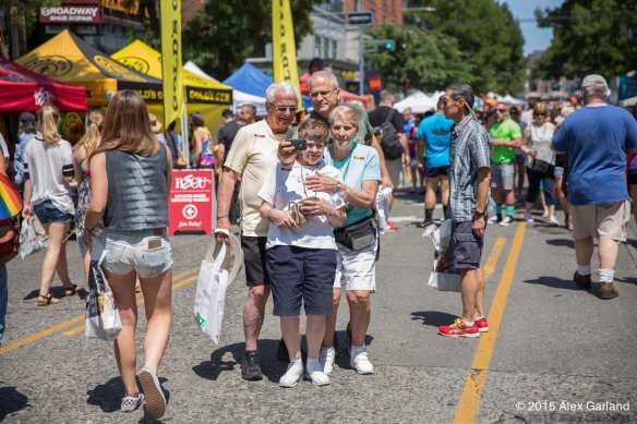 The 2015 Capitol Hill Pride Festival reportedly drew 35,000 to Broadway (Images: CHS)
