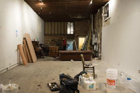 Lovecitylove's newest location used to be home to Royal's Cleaners. After completely gutting a vast majority of the building, including three layers of floor and a ceiling, the group still had a long list of renovations and repairs to make. (Images and words: Seth Halloran)