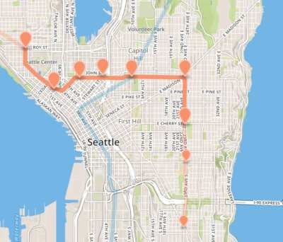 "A ""Metro 8 subway"" route"
