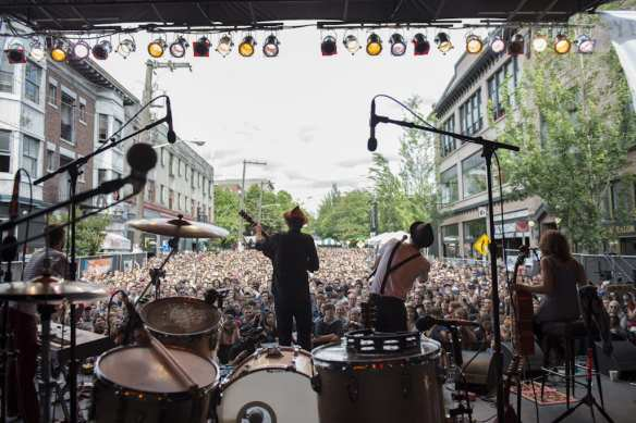 The Lumineers play Capitol Hill Block Party in 2012. The band's new album Cleopatra has pushed them back to the top of the charts (Image: Jim Bennett/CHBP with permission to CHS)